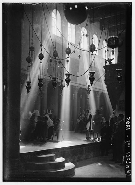 Church of the Nativity, Bethlehem; Christmas c. 1930s