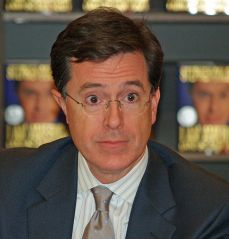 http://commons.wikimedia.org/wiki/File:Stephen_Colbert_2_by_David_Shankbone.jpg