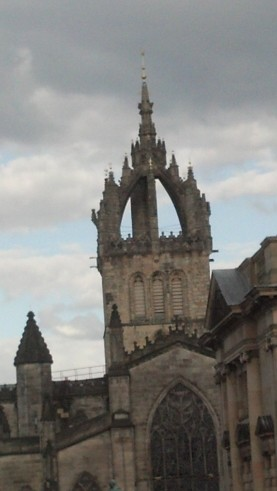 The High Kirk of St. Giles in Edinburgh, where my ancestor's Regimental Colors were lain.