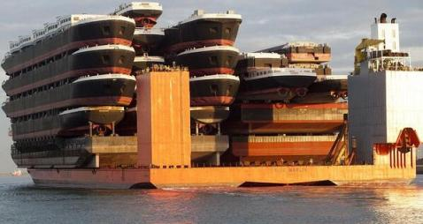 A ship-shipping ship, shipping shipping ships. source (for the image, as well as the caption)